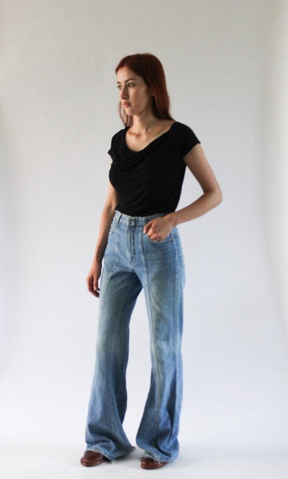 1970s Bell Bottom Jean 24.5 | 70s Worn in Jeans |