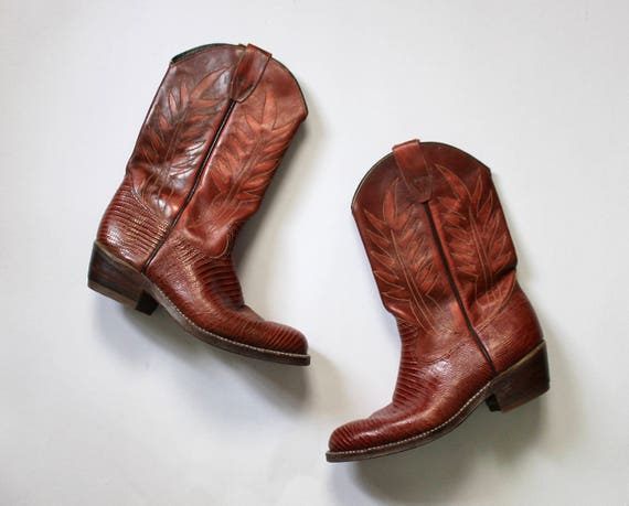 Vintage 1980s Cowboy Boots | Brown Cowboy Boots |