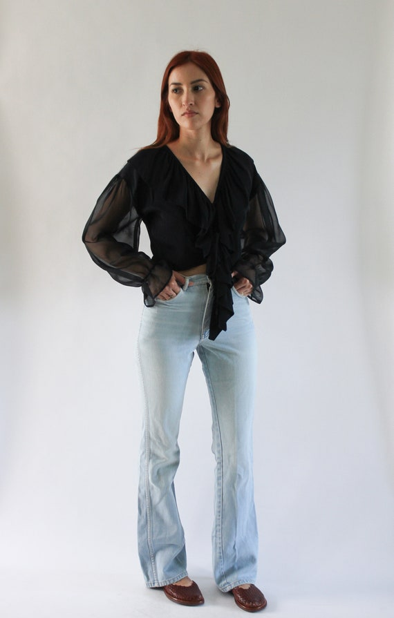 Vintage 1970s Brittania Bell Bottom Jeans 24.5 | 7