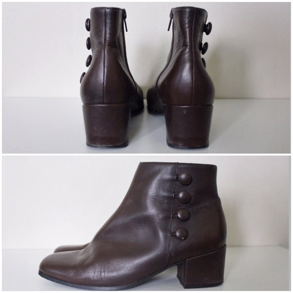 Brown Chelsea Ankle Boots Dark Vintage 6 West 5 1990s Boots Boots Nine Brown XnqOAf6A
