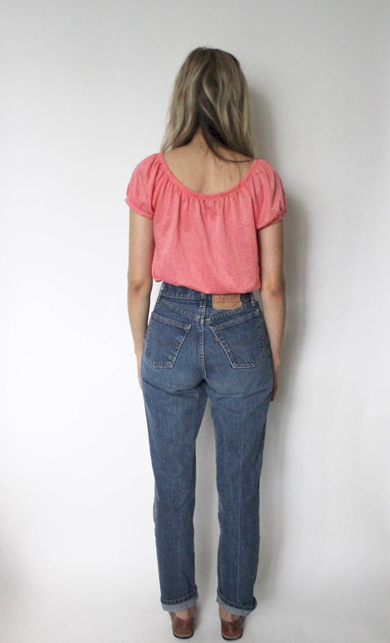 Vintage Levis 501 Denim Jeans 24 | High Waist Lev… - image 4