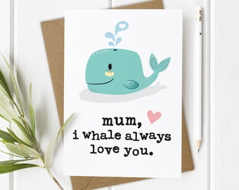 Funny Mother's Day Card - Love You Mum Card - Birthday Card For Mum - Mum Birthday Card - Mom Birthday Card - Funny Birthday Card Mum