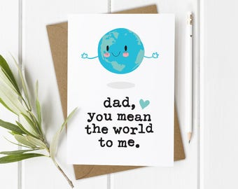 Funny Card For Father Dads Birthday Dad Daughter Daddy Greeting 1st