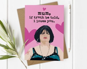 Gavin Stacey Nessa Mothers Day Cards, Funny Mothers Day Card Son Daughter, Mum Birthday Card