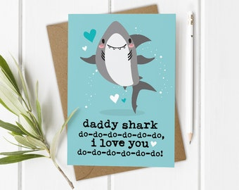 First 1st Fathers Day Card, Daddy Shark Card, Baby Shark Song, 1st Fathers Day Gift