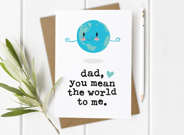 Funny Card For Father Funny Dads Birthday Card Dad Birthday Etsy