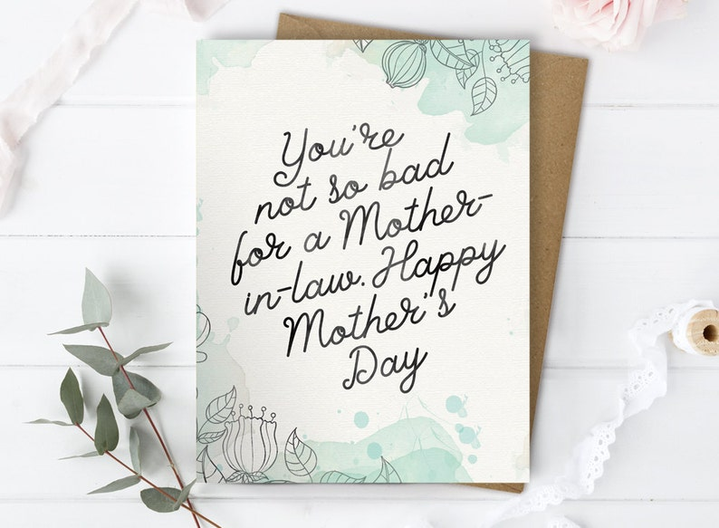 Mothers Day Card Mother In Law Card Other Mother Card Etsy