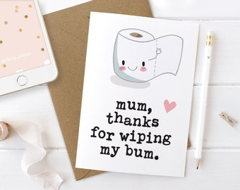 Funny Mothers Day Cards, Personalised 1st First Mothers Day card, Custom Mum Card