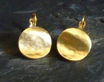 Earrings, silver or gold, handcrafted Tin