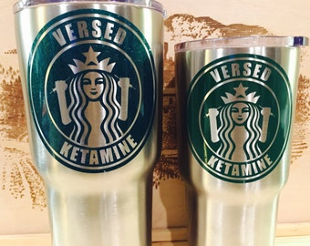 Versed and Ketamine decal, rtic cup sticker decal, custom decal, reflective vinyl, registered nurse and paramedic custom vinyl decals