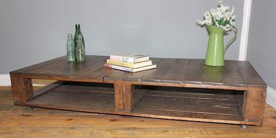 Wheeled Pallet Coffee Table