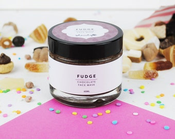 Fudge - Chocolate Face Mask - Natural Face Mask - Handmade Face Mask - Dry Skin - Sensitive Skin