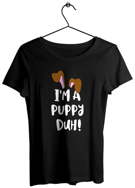 d546f12d9292 Im a Puppy Duh Halloween T-Shirt Girls Costume Cute Dog Ears | Etsy