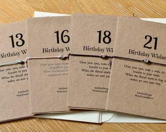 13th Birthday Wish | Special Birthday | Teenage Birthday | 13 | 16 | 18 | 21 | Friendship Bracelet | Wish Bracelet | Special Birthday Gift