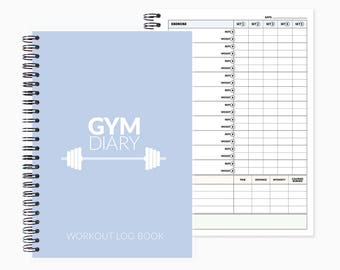 workout planner etsy