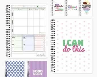food log book diet log book food planner diary diet etsy