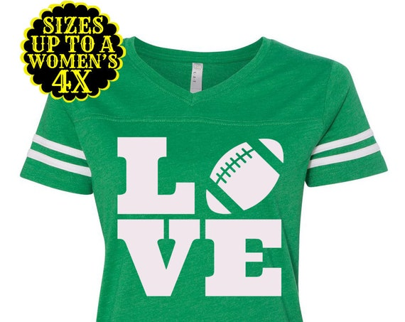 Love Football Shirt - Womens Football Shirt - Football Jersey - Game Day Shirt - Football Tee - Plus Size Clothing- Plus Size Football
