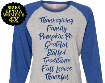 Thanksgiving Shirt. Fall Shirt, Pumpkin Pie Shirt, Thanksgiving Tee, Plus Size Baseball Raglan, Plus Size Clothing, Plus Size Thanksgiving