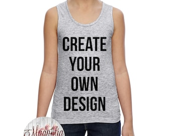 Girls Long Tank Top, Custom Girls Tank Top, Kids Tank Top, Kids Custom Tank, Custom Shirts for Kids, Custom Clothing, Custom Kids