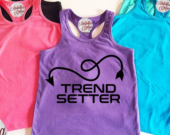 Trend Setter Little Girls Racerback Tank Top, Baby Tank Top, Toddler Tank Top, Summer Tank Top, Infant Tank Top, Trendy Tank Top, Girls Tank