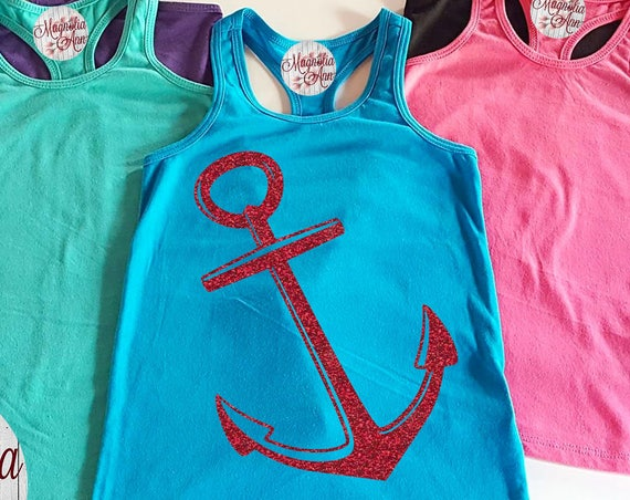 Anchor Little Girls Racerback Tank Top, Baby Tank Top, Baby Beach Tank Top, Toddler Tank Top, Summer Tank Top, Baby Top, Nautical Tank Top