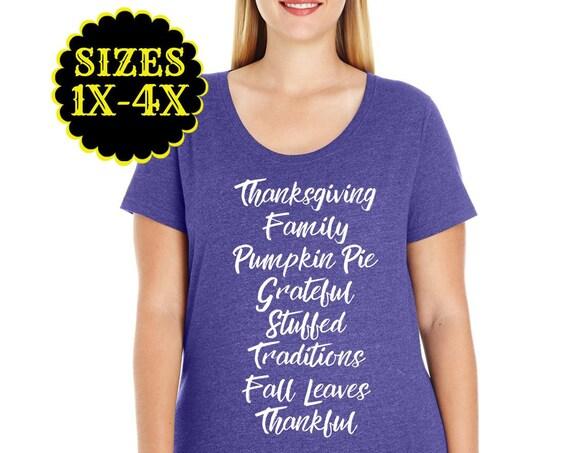 Thanksgiving Shirt, Plus Size Thanksgiving Shirt, Fall Shirt, Plus Size Fall Shirt, Turkey Shirt, Plus Size Clothing, Plus Size Shirt, Curvy