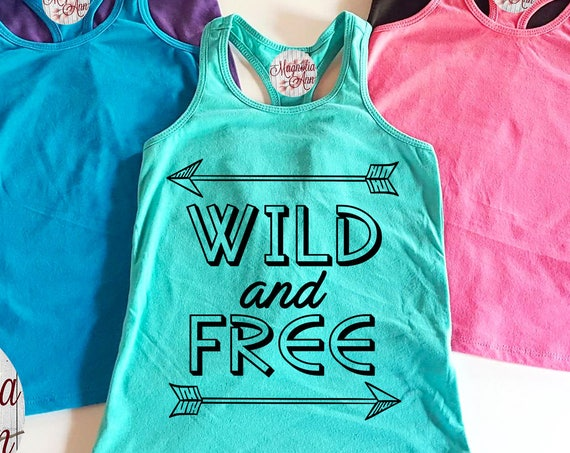 Wild And Free Infant, Toddler, Little Girls Racerback Tank Top, Toddler Wild and Free, Toddler Tank Top, Baby Racerback Tank, Summer Tank