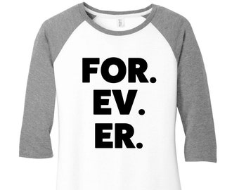 FOR EV ER Baseball Raglan 2 Tone 3/4 Sleeve Womens Tops, Plus Size, Plus Size Clothing, Plus Size Baseball, Plus Size T Shirt, Baseball Tee