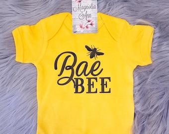 Bae Bee, Baby Bee, Baby Shower Gift, Funny Baby Bodysuit, Baby Bodysuit, Baby Shirt, Bee Gift, New Baby Gift, Toddler Shirt, Funny Kid Shirt