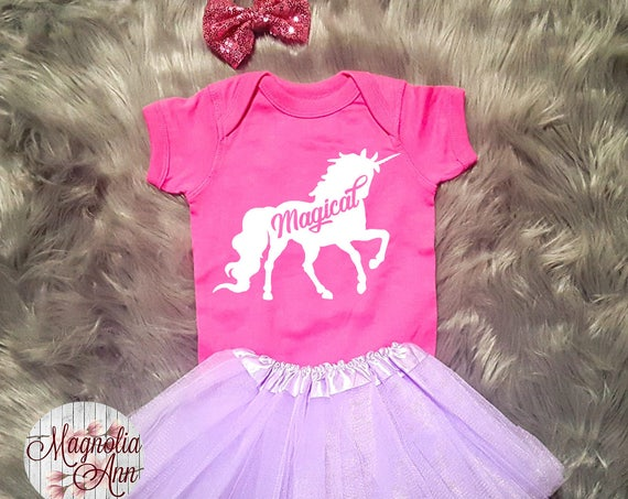 Magical Unicorn Outfit, Unicorn Birthday Outfit, Baby Unicorn Outfit, Unicorn Tutu Outfit, Toddler Unicorn Shirt, Toddler Unicorn Tutu Set