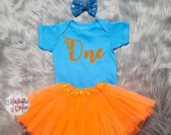 One Birthday Outfit, 1st Birthday Outfit, 1st Bday, 1st Birthday Tutu Outfit, Toddler 1st Birthday Shirt, Toddler 1st Birthday Tutu Outfit