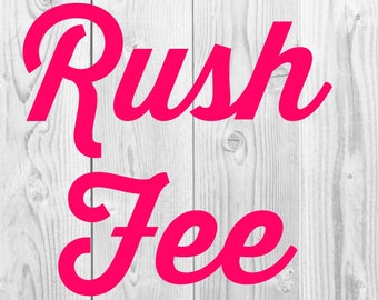 Rush Fee-Order Ships Within 48 Hours!