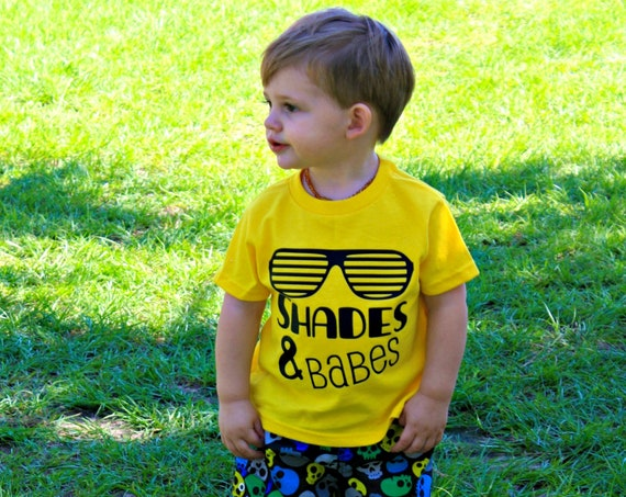 Shades and Babes Shirt, boys graphic tee, baby boys shirt, clothes for boys, toddler boy shirt, beach shirt, summer tees, infant boys shirt