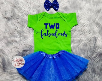 Two Fabulous Birthday Tutu Outfit, 2nd Birthday Tutu Outfit, Toddler 2nd Birthday Shirt, Toddler Birthday Outfit, 2nd Birthday Outfit Girl