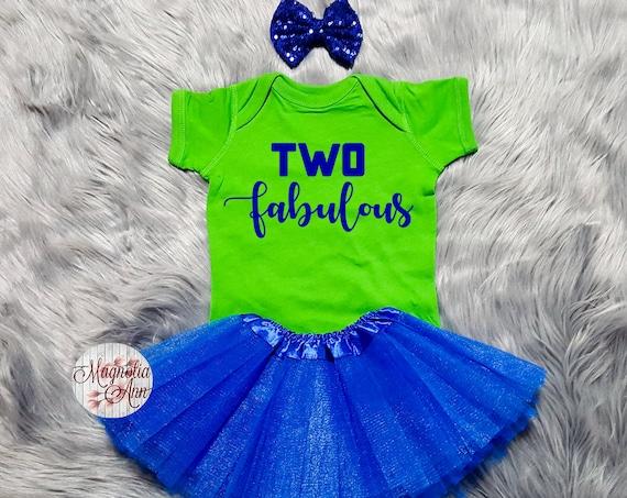 Two Fabulous Birthday Tutu Outfit, 2nd Birthday Tutu Outfit, Toddler 2nd Birthday Shirt, Toddler Birthday Outfit, 2nd Birthday Outfit Girl