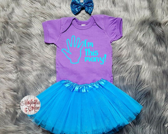 I'm This Many 5th Birthday Tutu Outfit, 5th Birthday Tutu Outfit, Toddler 5th Birthday Shirt, Toddler Birthday, 5th Birthday Outfit Girl