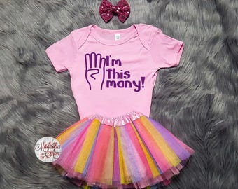 I'm This Many 4th Birthday Tutu Outfit, 4th Birthday Tutu Outfit, Toddler 4th Birthday Shirt, Toddler Birthday, 4th Birthday Outfit Girl