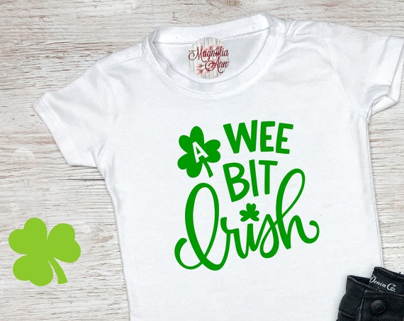 A Wee Bit Irish, St Patrick's Day Shirt, St. Patricks Day Kids Shirt, Girls St Patricks Day Shirt, Boys St Patricks Day Shirt, Shamrock Tee