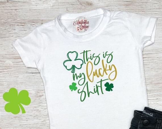 Lucky Shirt, St Patrick's Day Shirt, St. Patricks Day Kids Shirt, Girls St Patricks Day Shirt, Boys St Patricks Day Shirt, Shamrock Shirt