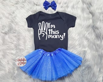 I'm This Many 3rd Birthday Tutu Outfit, 3rd Birthday Tutu Outfit, Toddler 3rd Birthday Shirt, Toddler Birthday, 3rd Birthday Outfit Girl
