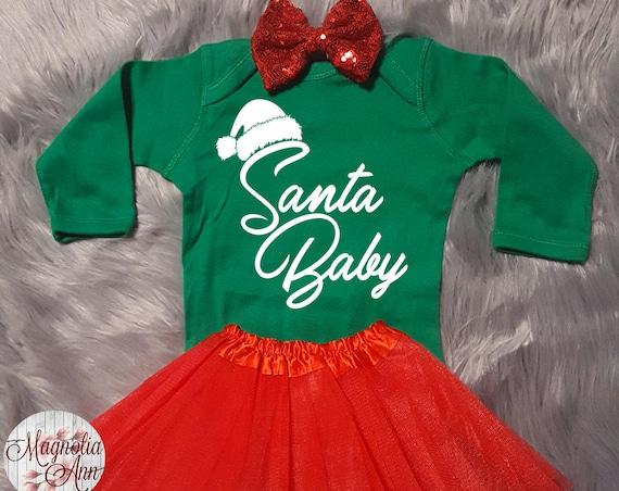 Santa Baby, Baby Christmas Outfit, Christmas Baby, My First Christmas Outfit, Christmas Bodysuit, Toddler Shirt, Toddler Christmas Outfit