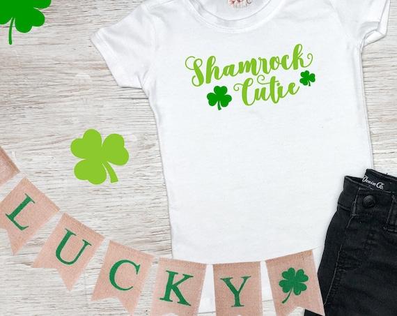 Shamrock Cutie, St Patrick's Day Shirt, St. Patricks Day Kids Shirt, Girls St Patricks Day Shirt, Boys St Patricks Day Shirt, Shamrock Shirt