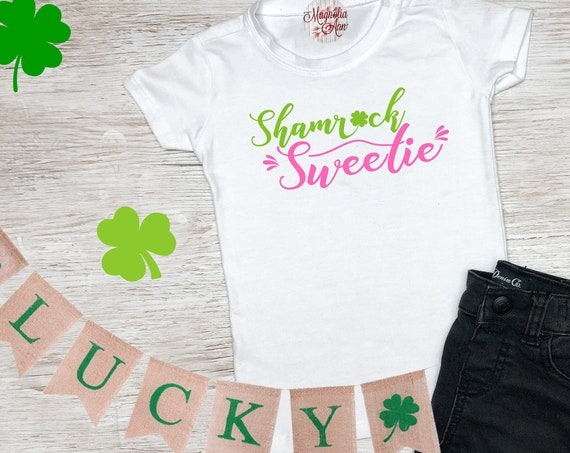 Shamrock Sweetie, St Patrick's Day Shirt, St. Patricks Day Kids Shirt, Girls St Patricks Day Shirt, Boys St Patricks Day Shirt, Shamrock Tee