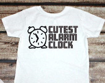 Cutest Alarm Clock, Toddler Tee, Trendy Kid's Tee, Boy Clothes, Girl Clothes, Toddler Tee, Baby Clothes, Kids Shirt, Children's Clothing