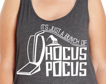 It's Just A Bunch Of Hocus Pocus, Sanderson Sisters, Witch, Halloween, Women's Premium Jersey Tank Top Sizes Small-4X, Plus Sizes, Curvy