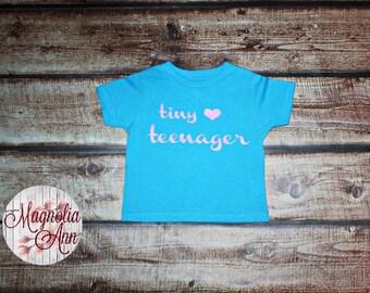 Tiny Teenager Heart, Toddler T-Shirt, Toddler Graphic Tee, Toddler Shirt,  Trendy Tee, Toddler Clothes