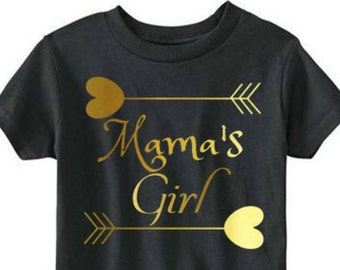 Mama's Girl, Mommy and Me, Toddler Kids T-shirt in Sizes 2T-5/6
