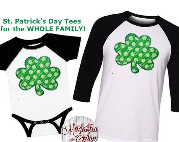 Featured listing image: Shamrock Shirt, St Patricks Day Shirt, Matching St Patricks Day Shirt, Plus Size St Patricks Day Shirt, Kids St Patricks Day Shirts