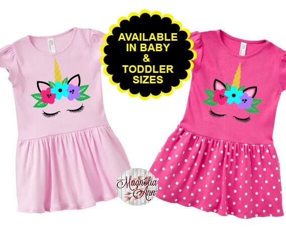 Unicorn Toddler Dress, Girls Unicorn Dress, Kids Unicorn Dress, Unicorn Kids Clothes, Birthday Dress, Unicorn Dress, Baby Unicorn Dress