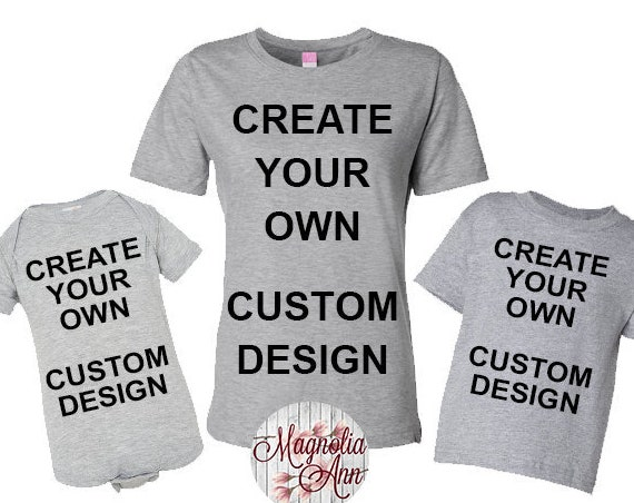 Create Your Own Design, Custom Design Mommy and Me, Mom Daughter Matching Shirts, Mommy and Son Shirts, Family T-shirts, Dad and Son Shirts